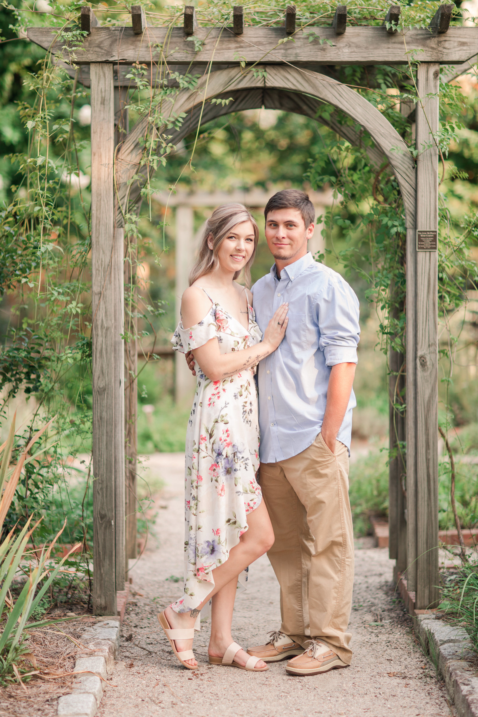 Jennifer B Photography-Sandhills Horticultural Gardens Engagement-Pinehurst NC-Cody and Kayla-2019-0060