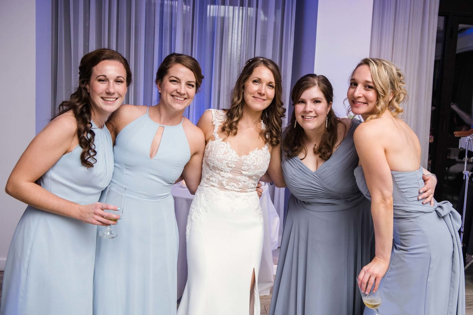 Bride with bridesmaids at  Allegria Hotel