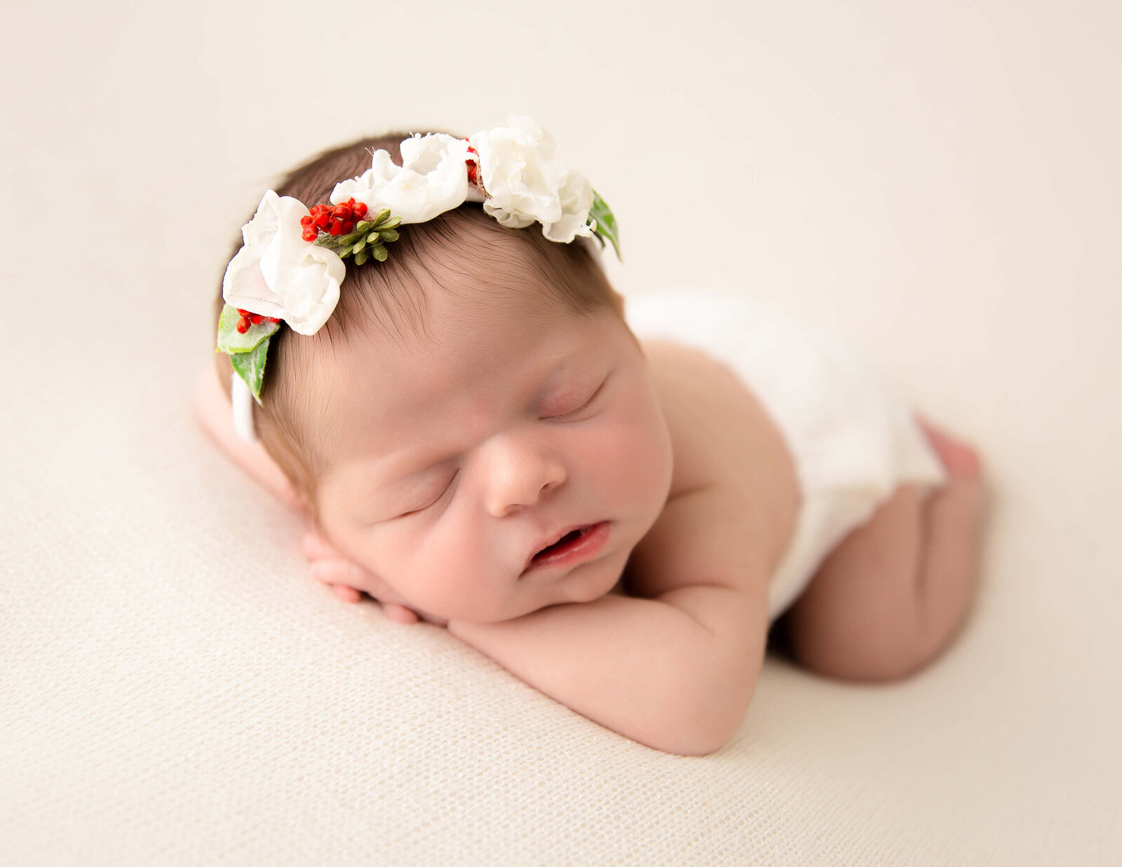 Sweet baby girl at our in-home Rochester, NY studio.