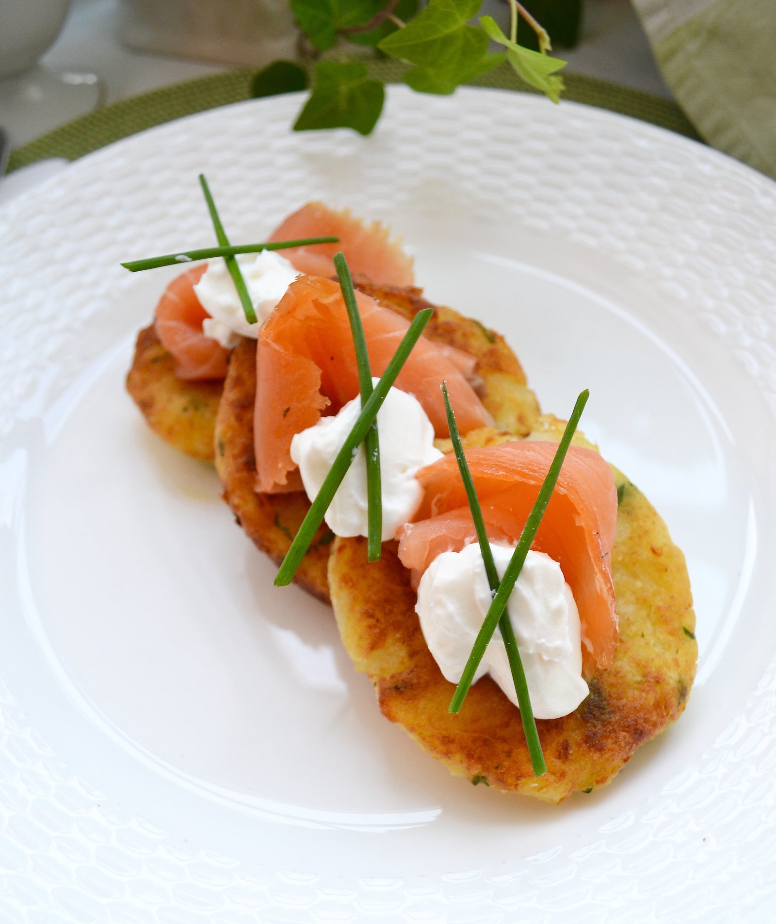 Irish Breakfast Smoked Salmon on Potato Cakes