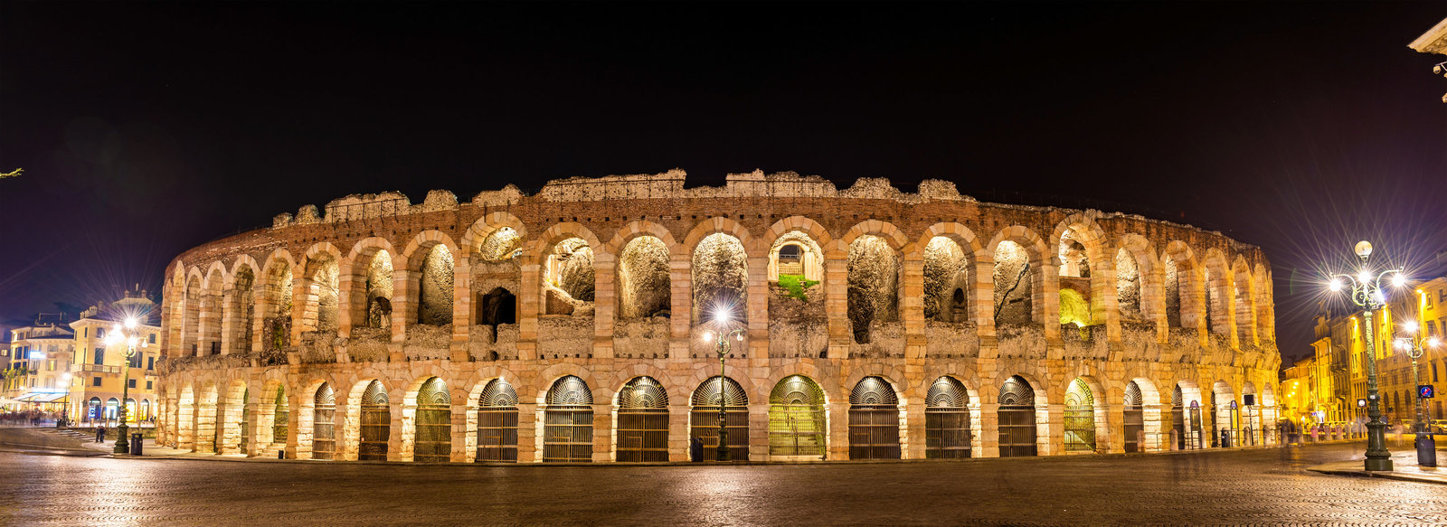 The Arena di Verona at night