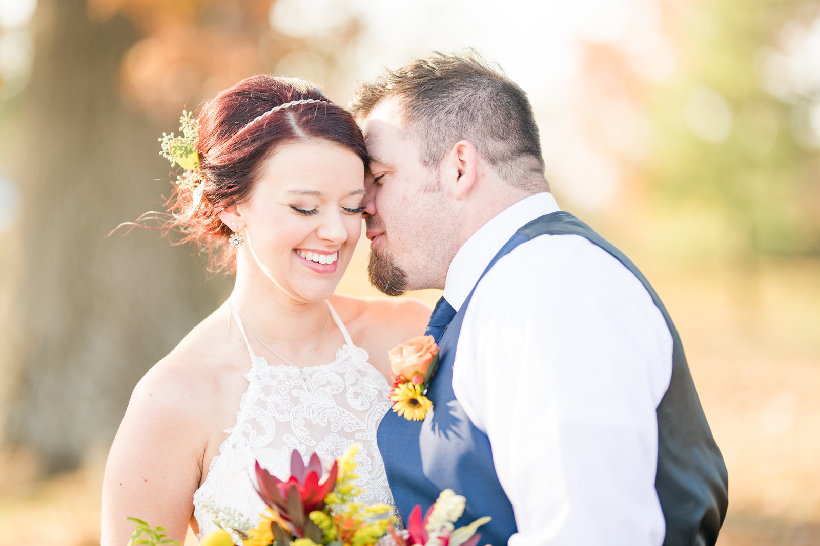 Couple Portraits Wedding Brewery Cincinnati Ohio Colorful Flowers-30