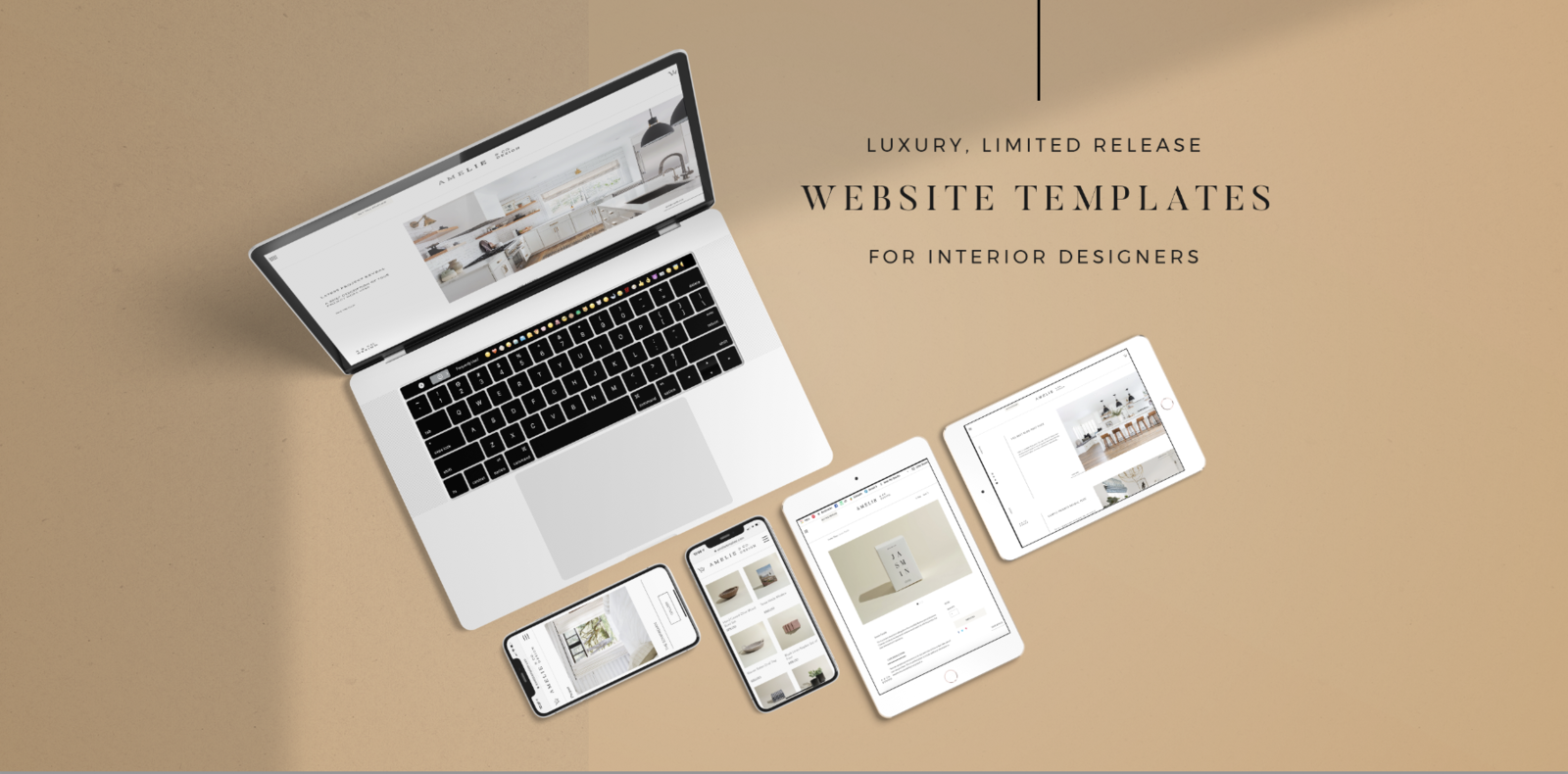 The Amelie website template for interior designers from IDCO Studio