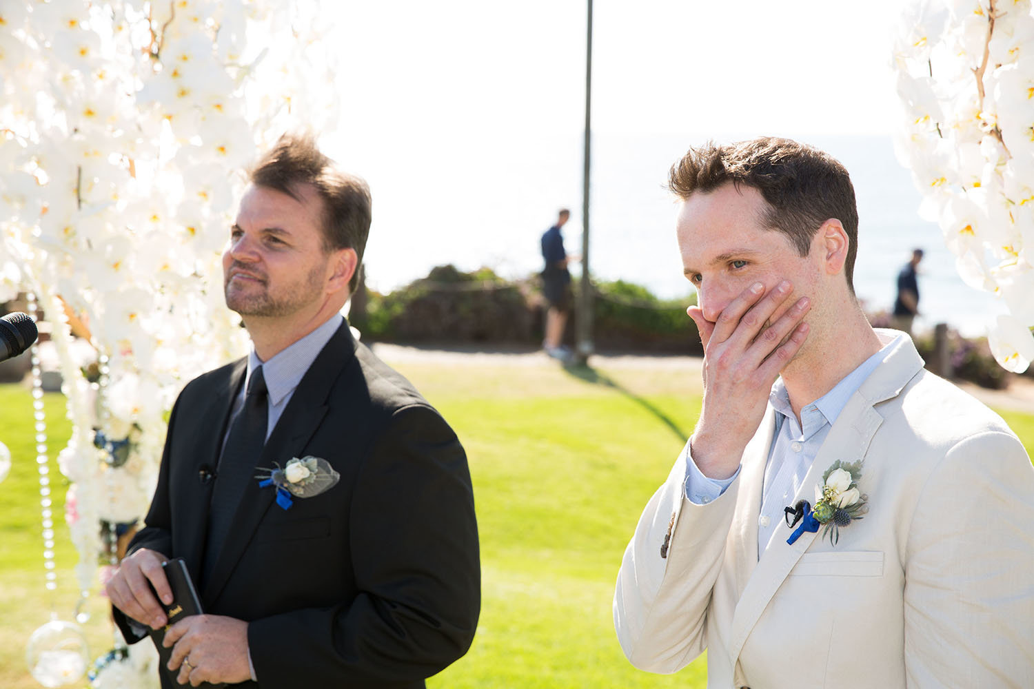 Emotional reaction to seeing the bride for the first time