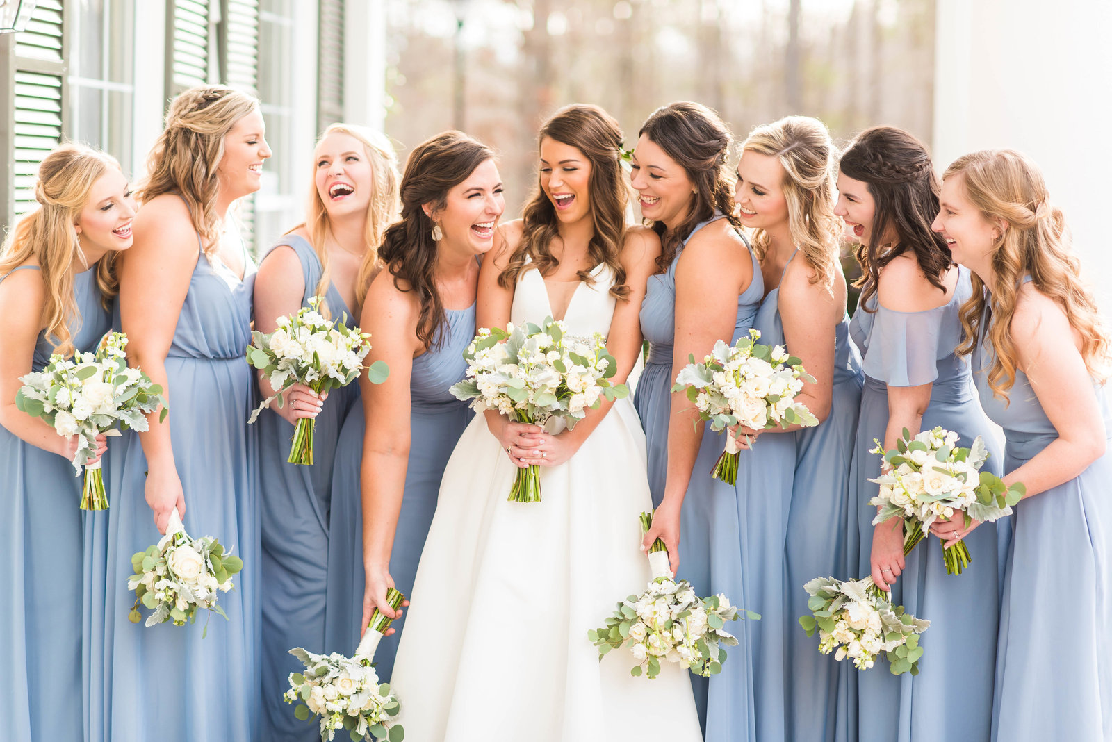 Blue and White Highgrove Estate Wedding