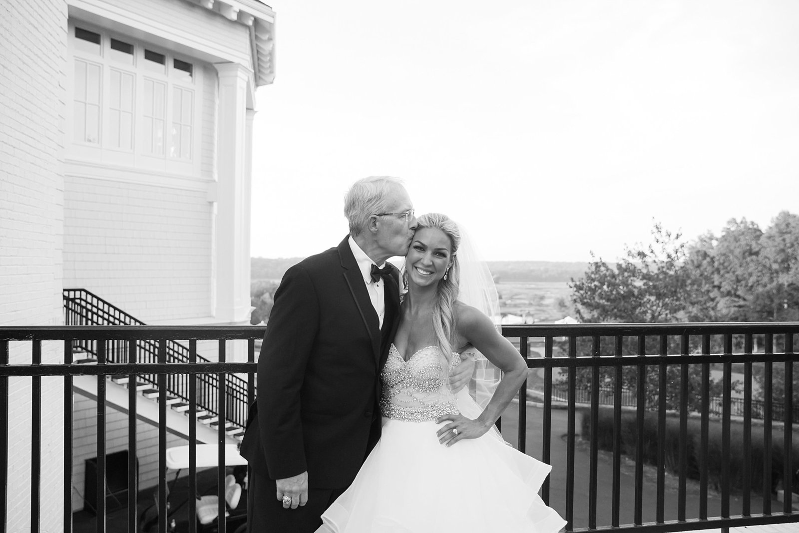 M Harris Studios_Trump National Golf Club Wedding_bride father kiss