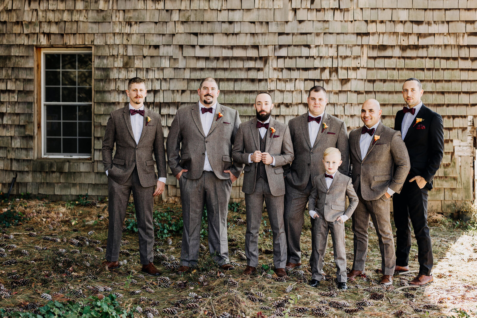 groomsmen bowties farm old barn
