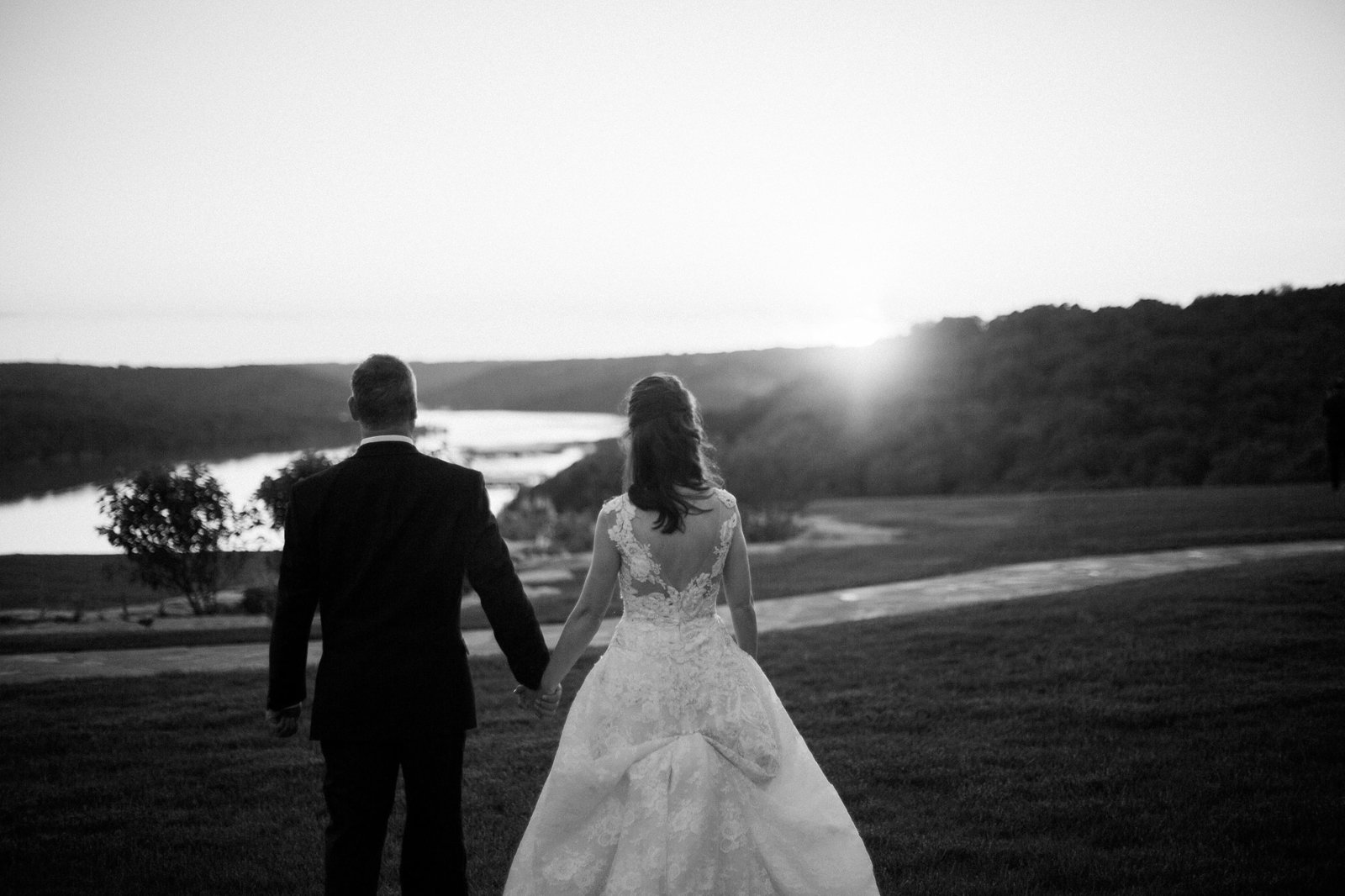 integrity hills wedding and table rock lake sunset