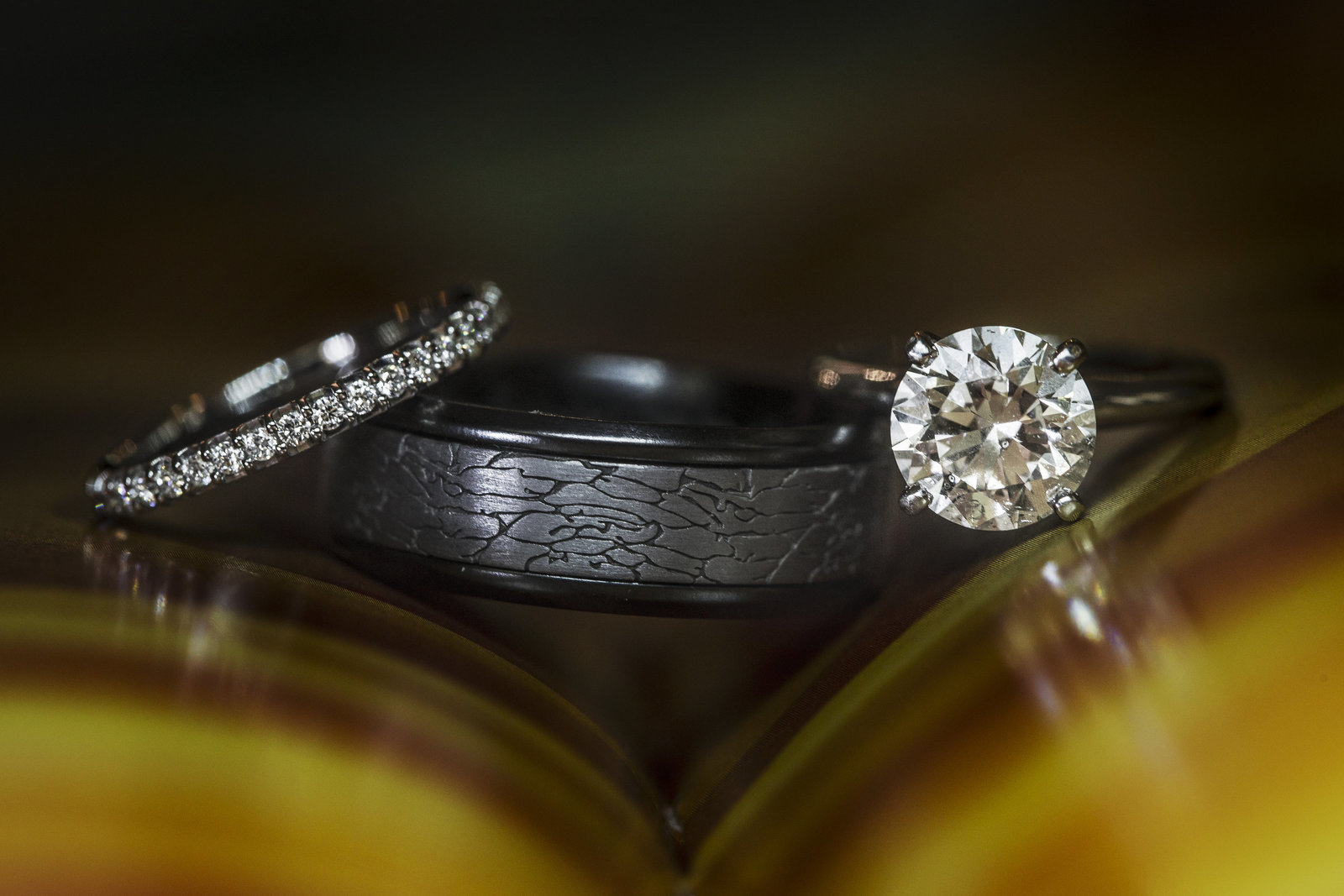Dallas Texas wedding rings detail shot