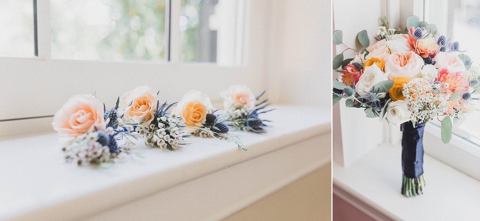 M Harris Studios_Braehead Manor_VA Wedding Photographer_pink wedding flowers
