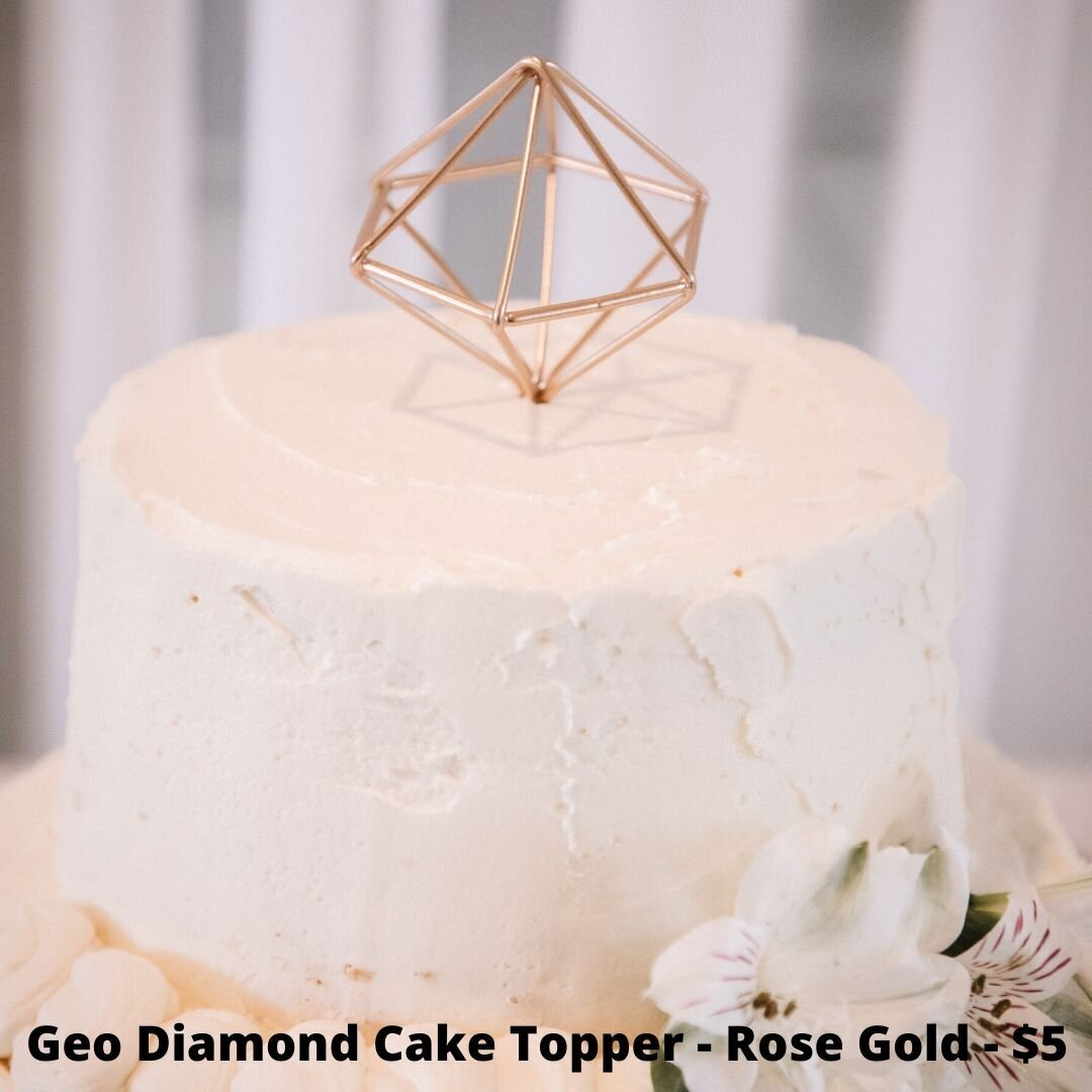 geo diamond topper