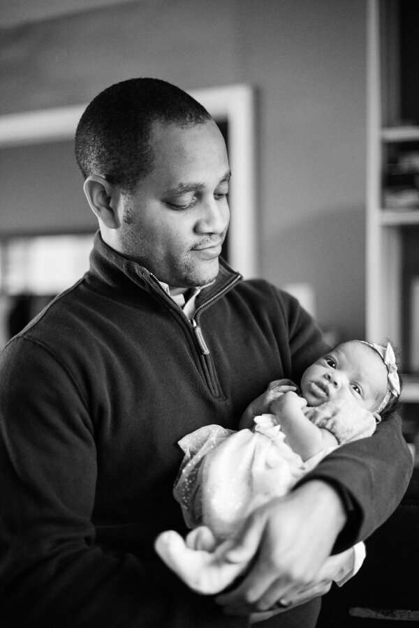 Delaware father with newborn