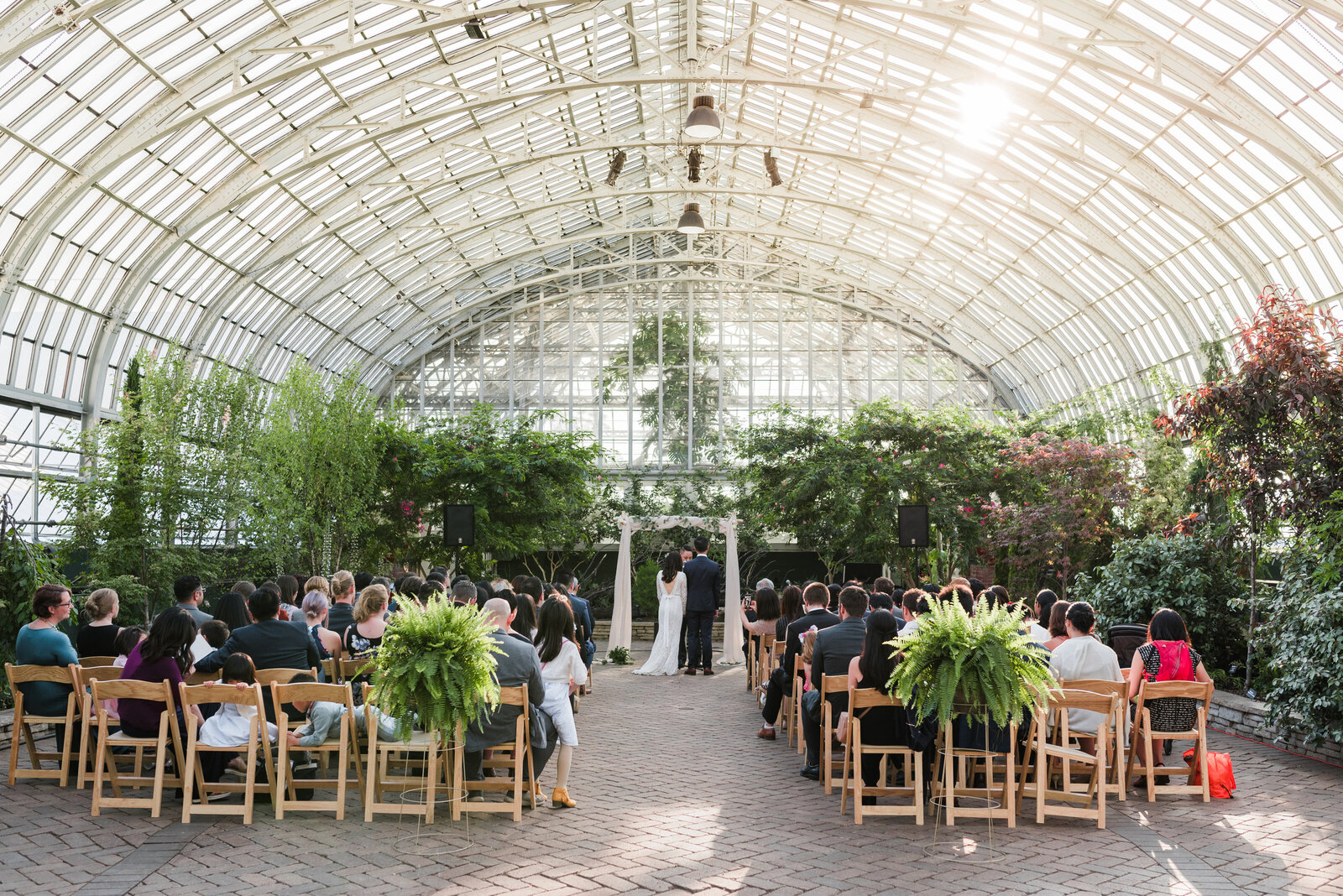 Garfield Park Conservatory Wedding _ Susie and Joe_263