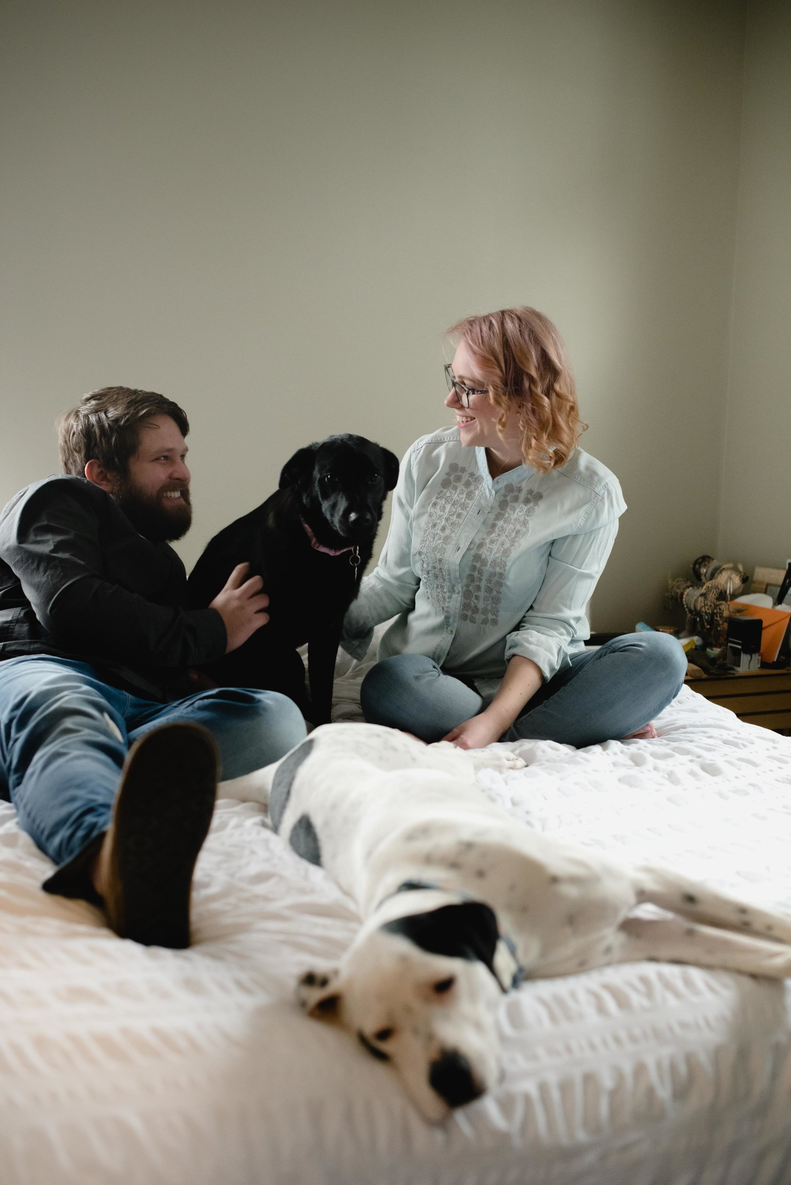 MN Couple and Pets Home Sssion
