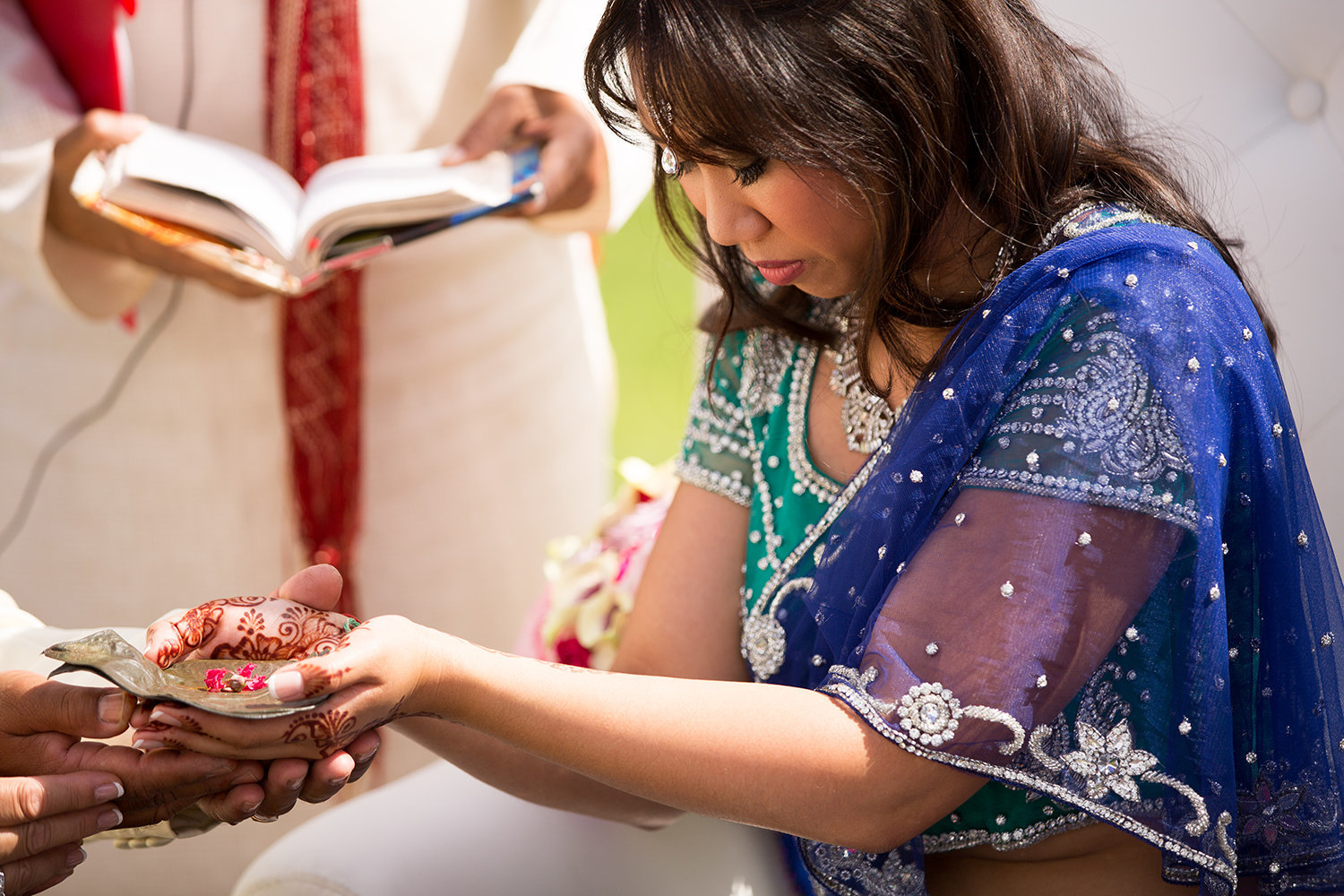 Bride during tratitional Hindu wedding ceremony