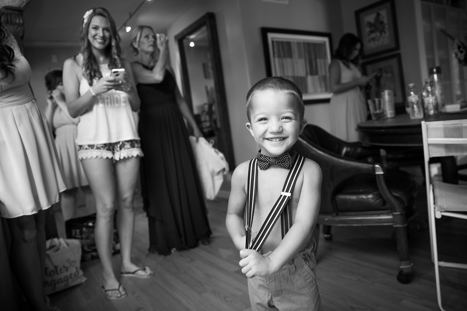 ring bearer getting ready at darlington house