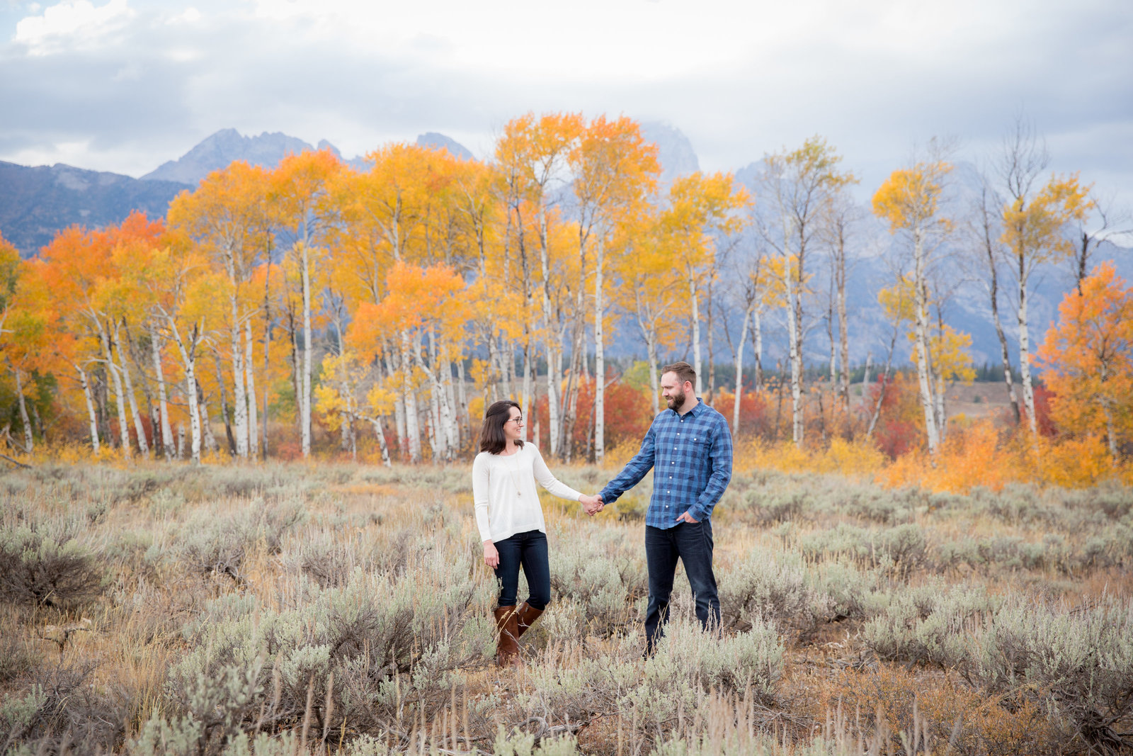 Fall engagement session in Grand Teton National Park