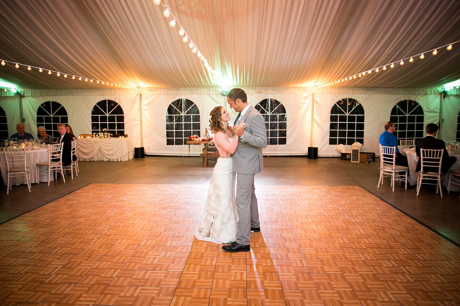 first dance with bride and groom