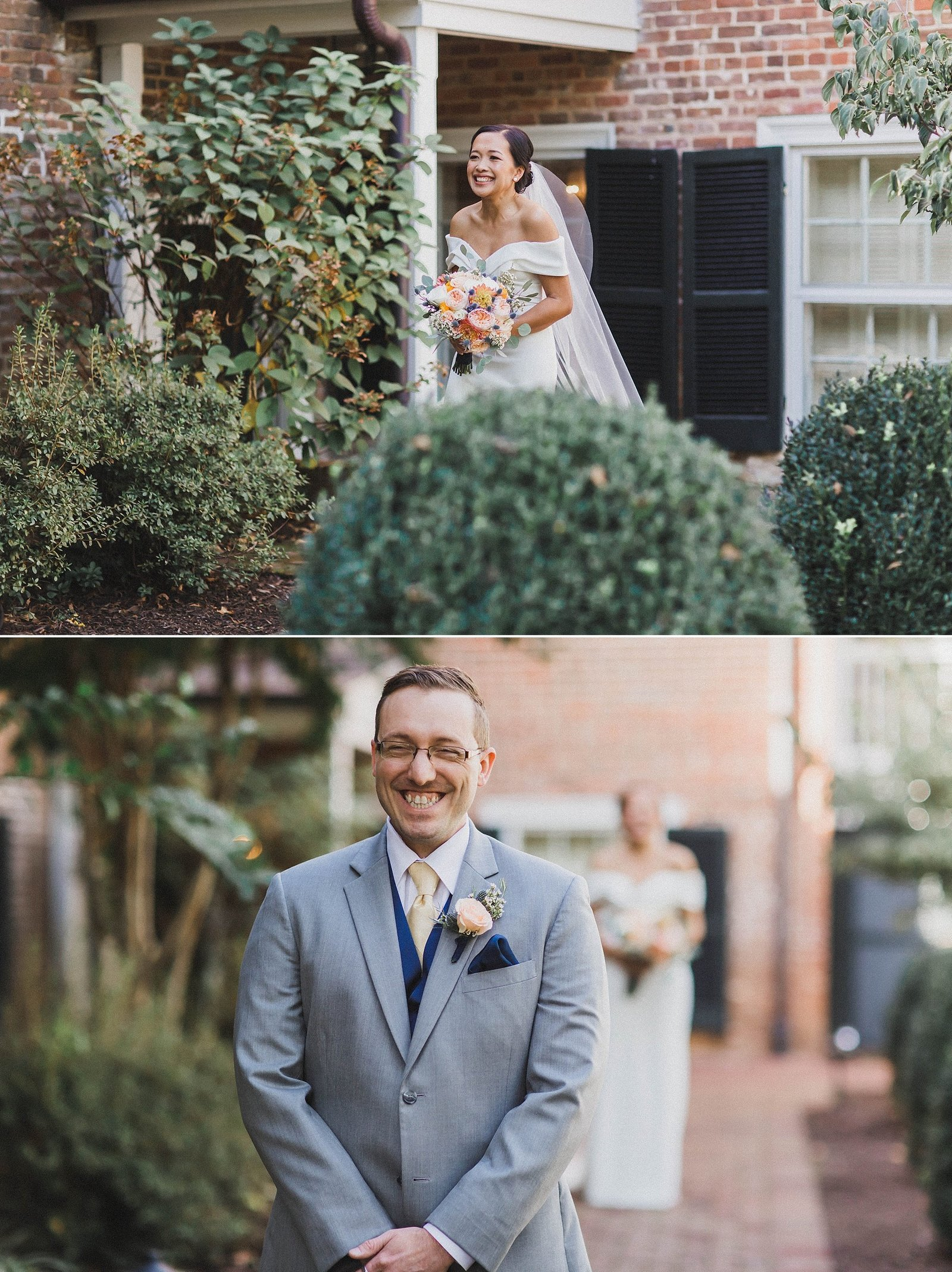 M Harris Studios_Braehead Manor_VA Wedding Photographer_outdoor first look