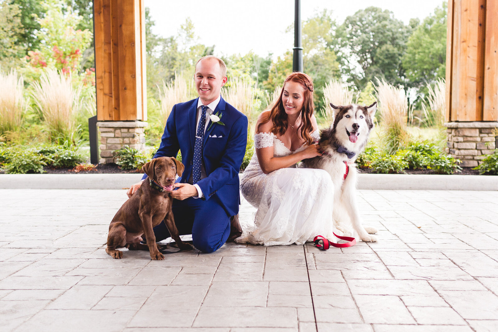 bride-groom-with-dogs-wedding-day-estates-at-new-albany-ohio