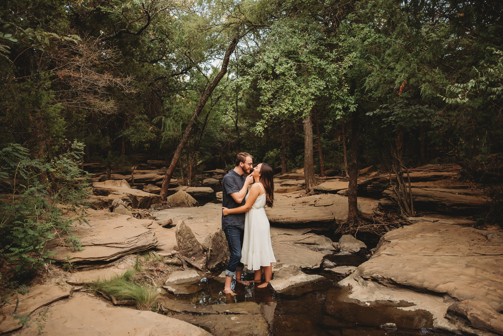 Stone Creek Park Engagement Session in Flower Mound Texas by McKinney Dallas Fort-Worth Metroplex Wedding Photographer