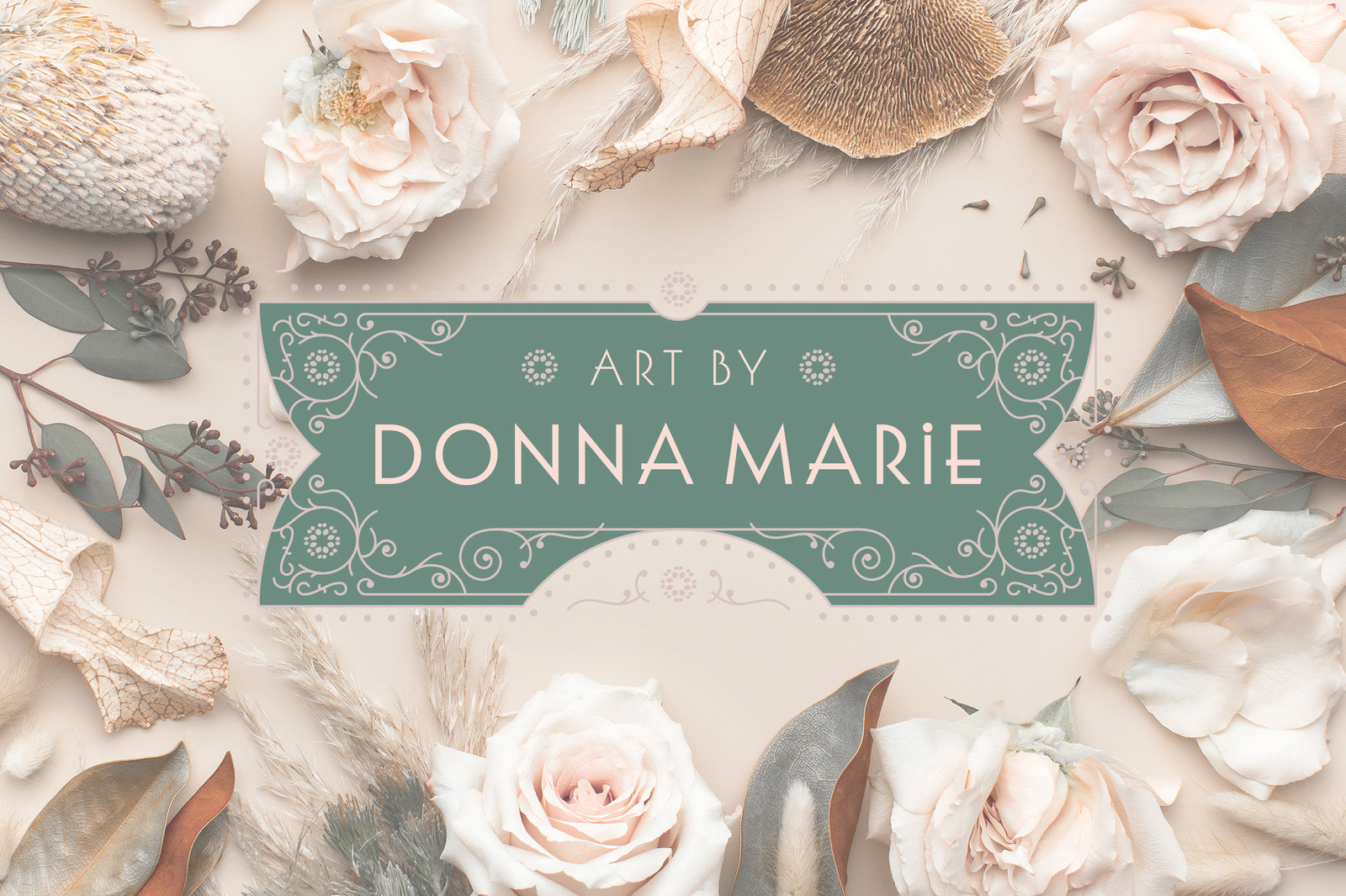 art-by-donna-marie-art-nouveau-branding-logo-design