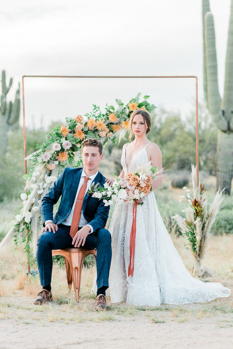 Modern Copper Desert Wedding Styled Shoot 2019-0154