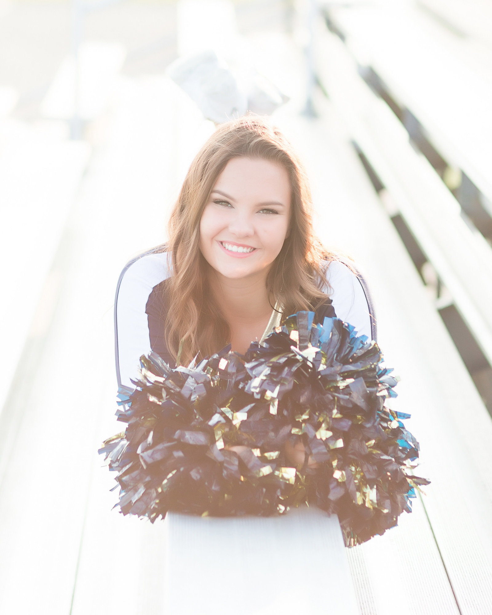 Senior girl-cheerleader-natural light-Indiana