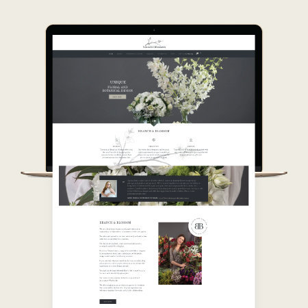 florist ecommerce website design