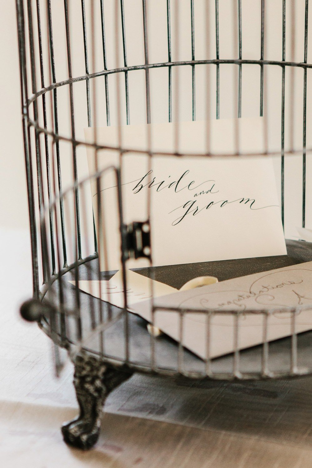 Birdcage for wedding gift cards at Belle Mer in Newport, RI