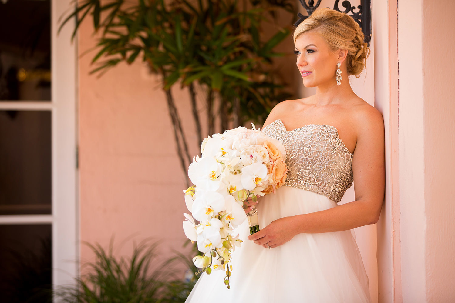 Captivating bridal portrait at La Valencia
