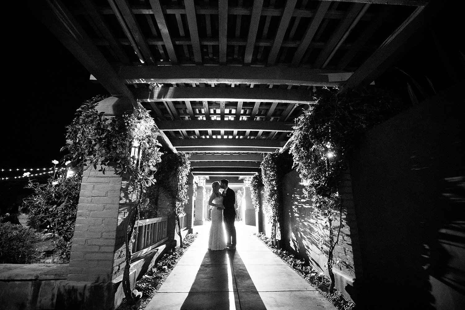 dramatic night shot at santa luz club