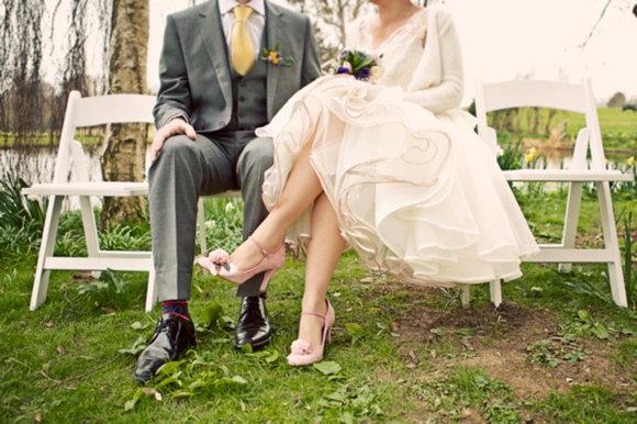 1950s_style_tealength_wedding_dress_JoanneFlemingDesign