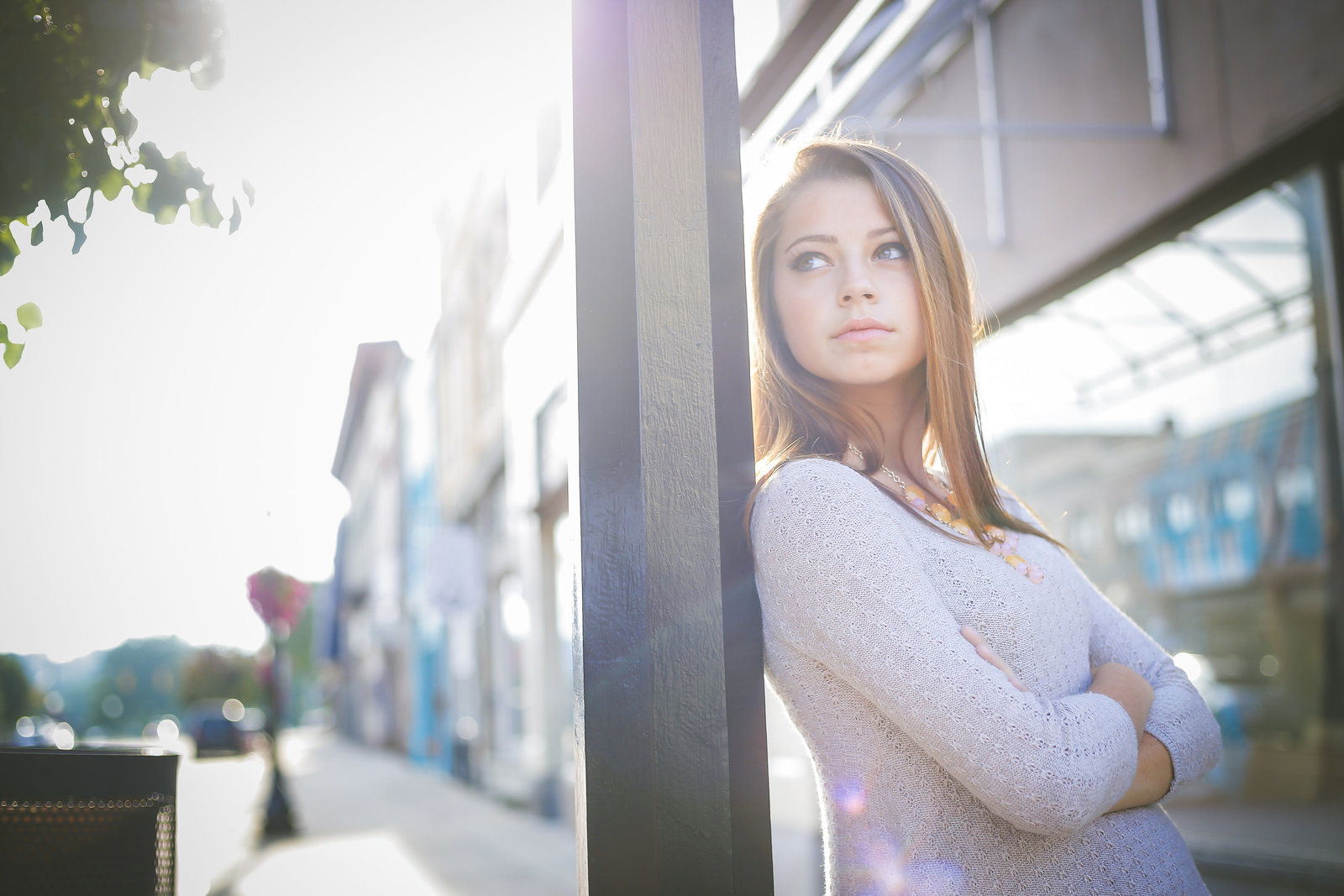 Greenville high school senior in downtown Ionia Michigan
