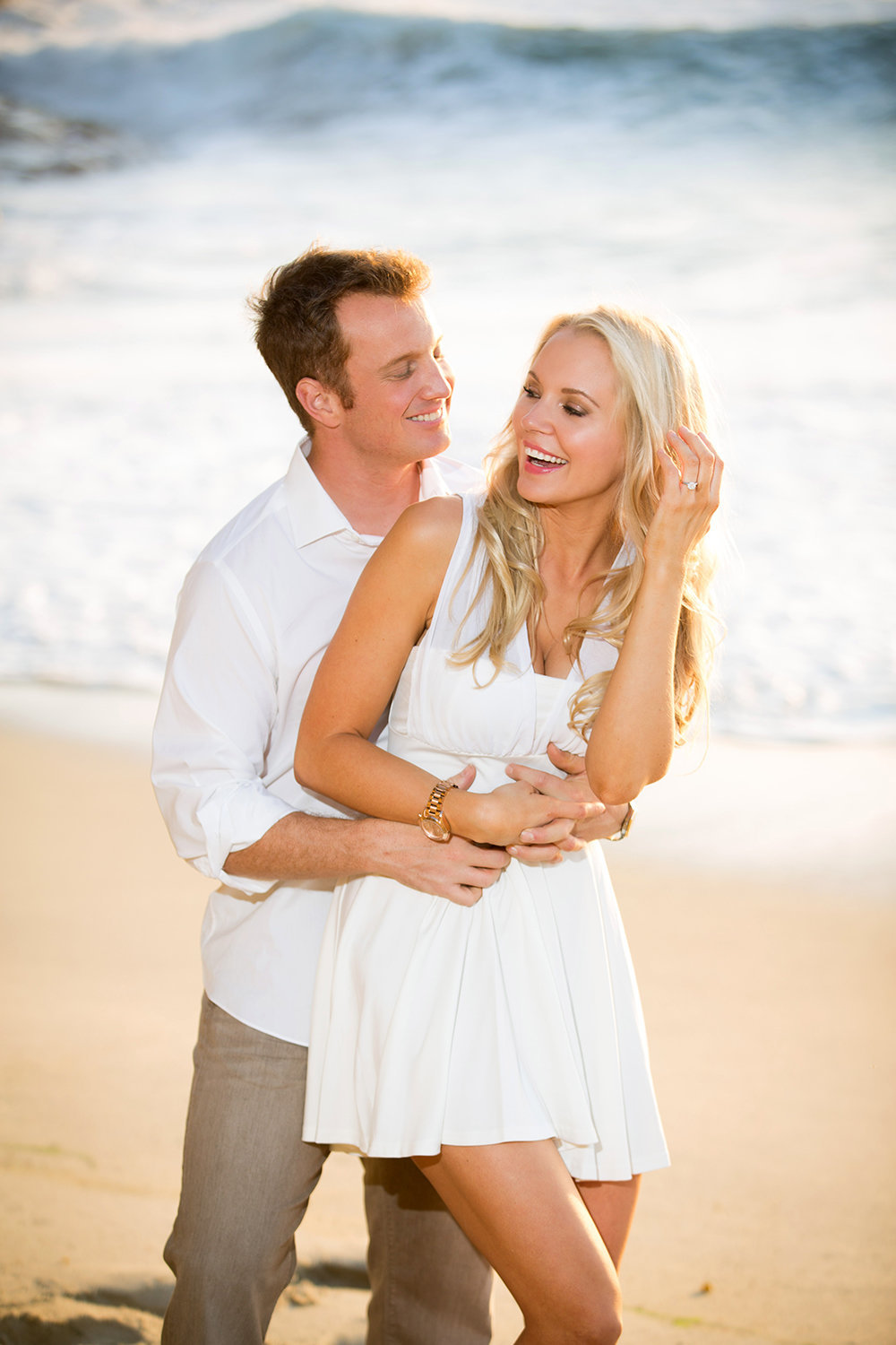 La Jolla engagement photos beach shoot with ocean