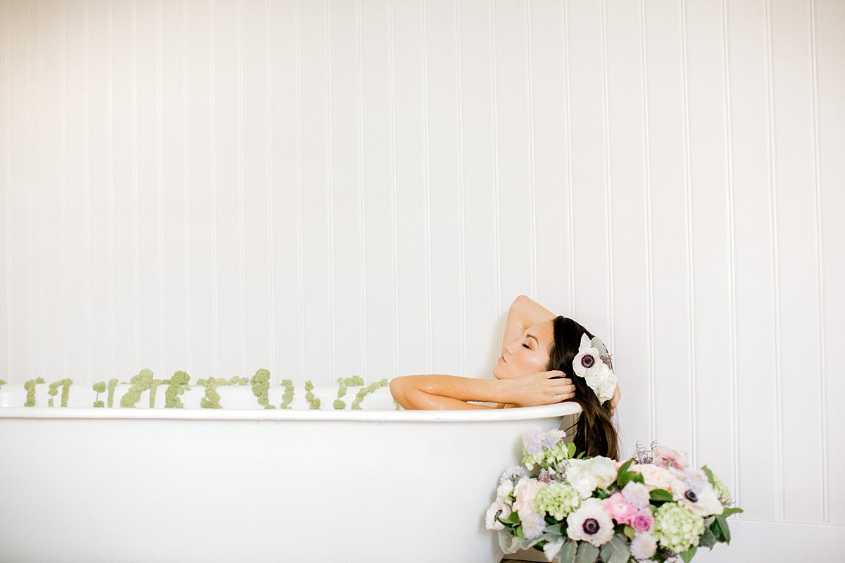 Sensual Milk Bath Boudoir Pastel Florals Ava Loren Design Norfolk VA Beach Yours Truly Portraiture-68