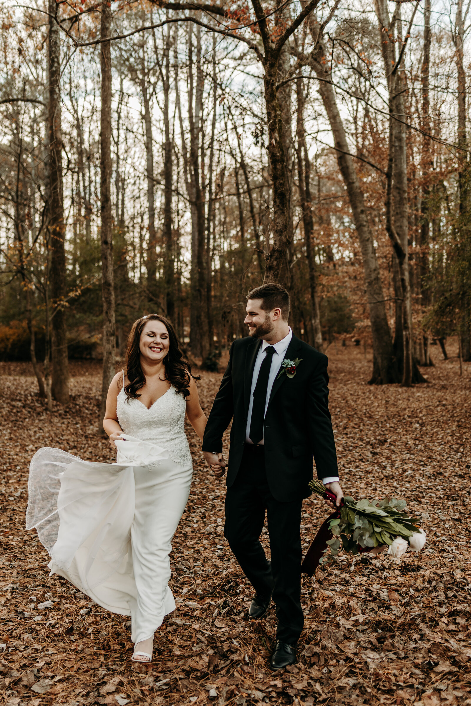 Bride and groom portraits in Hoschton, Georgia wedding