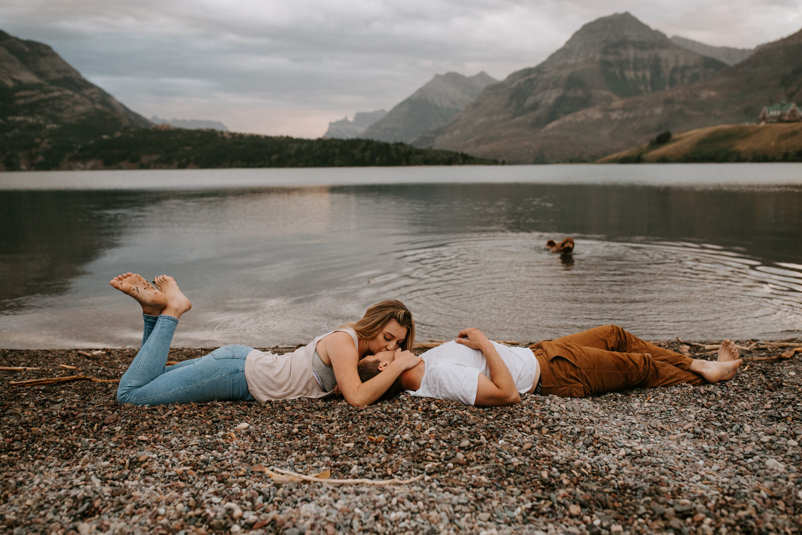 Bree and Chris | Teasers | Waterton Alberta Couples Session -025