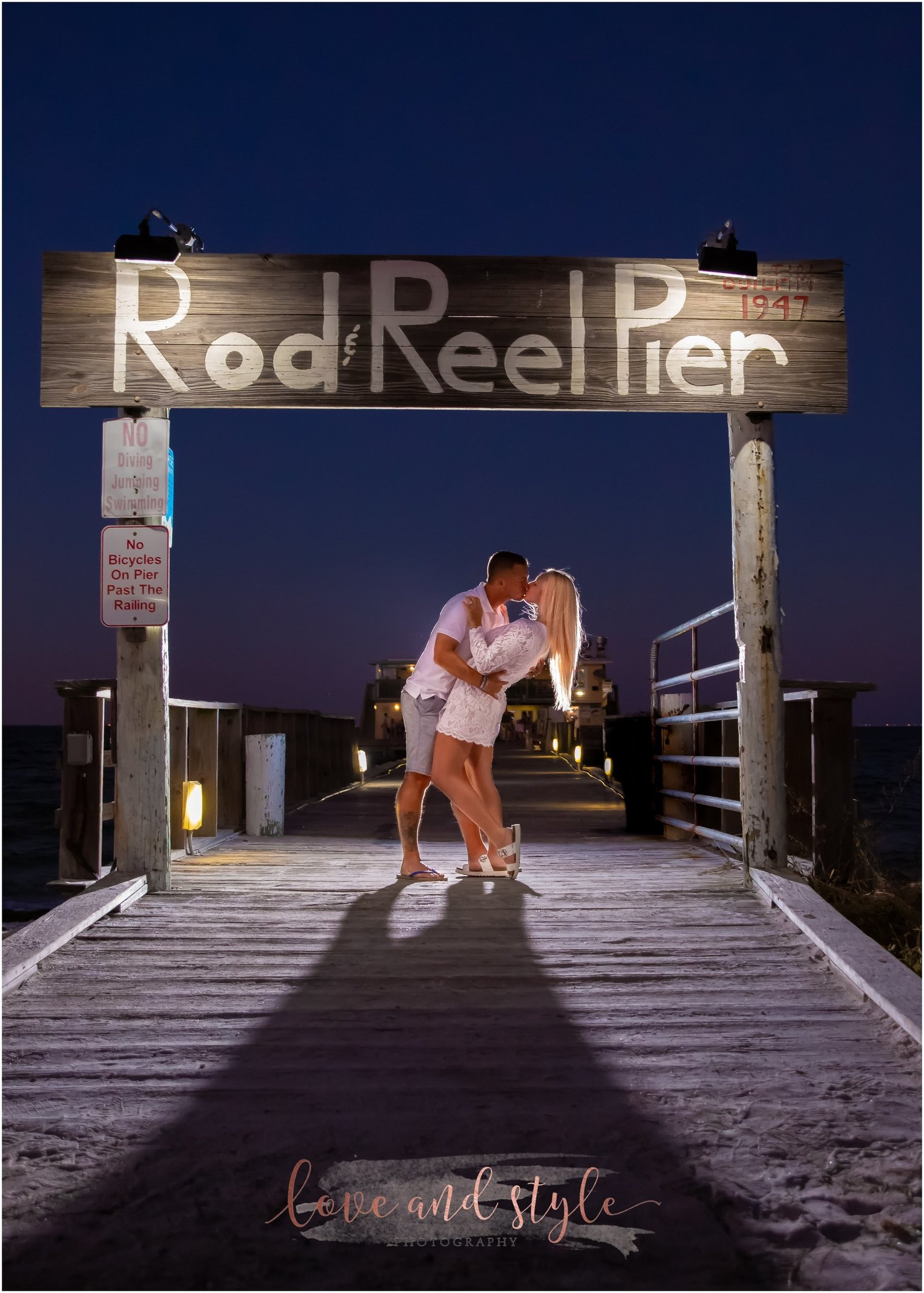 Engagement Photography at the Rod and Reel Pier on Anna Maria Island