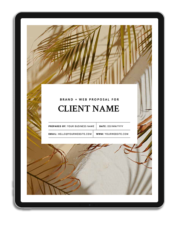 One6Creative_Client Proposal Template iPad Mockup