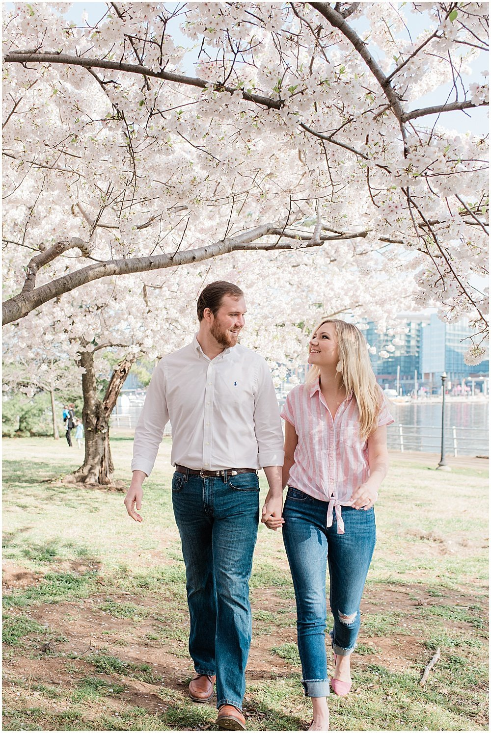 Washington, DC Cherry Blossom Engagement Photos_0004