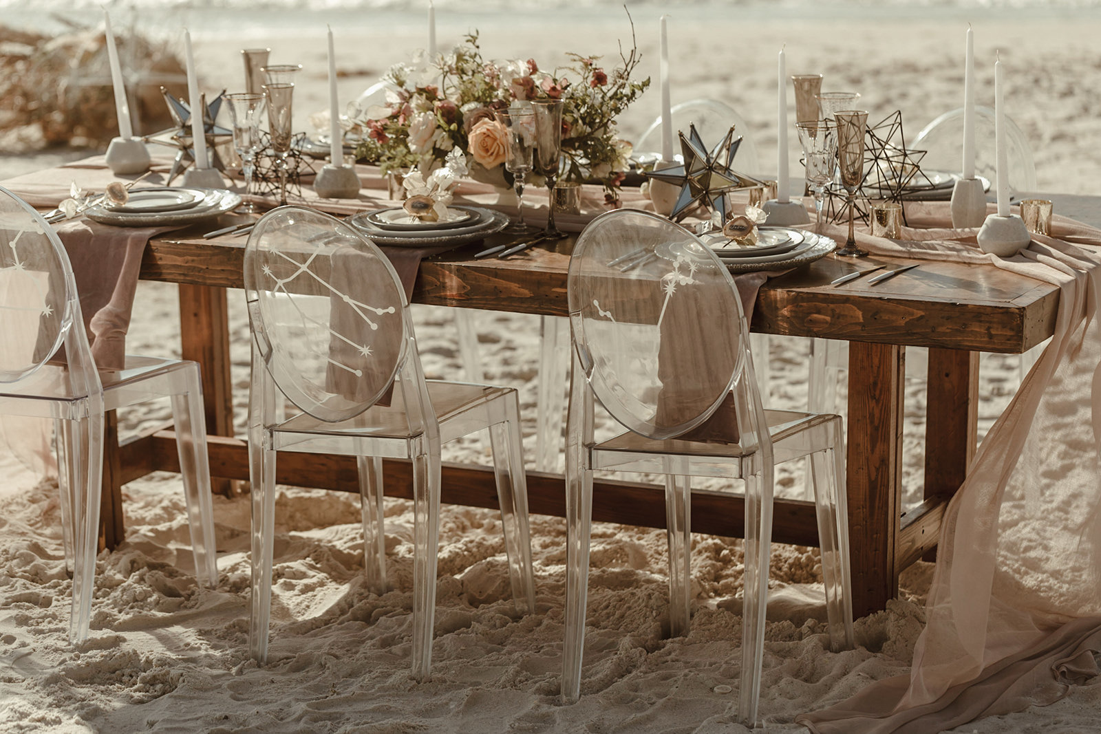 Celestial wedding inspiration_ beach elopement style-65