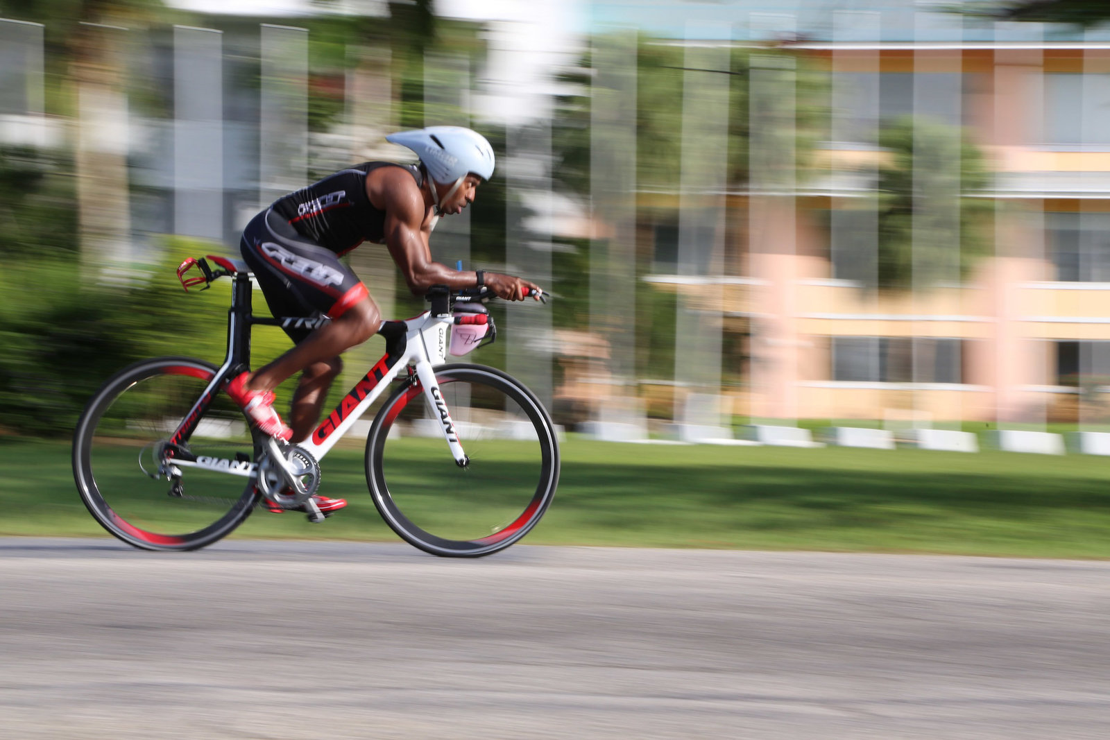 Cyclist in action. Photo by Ross Photography, Trinidad, W.I..