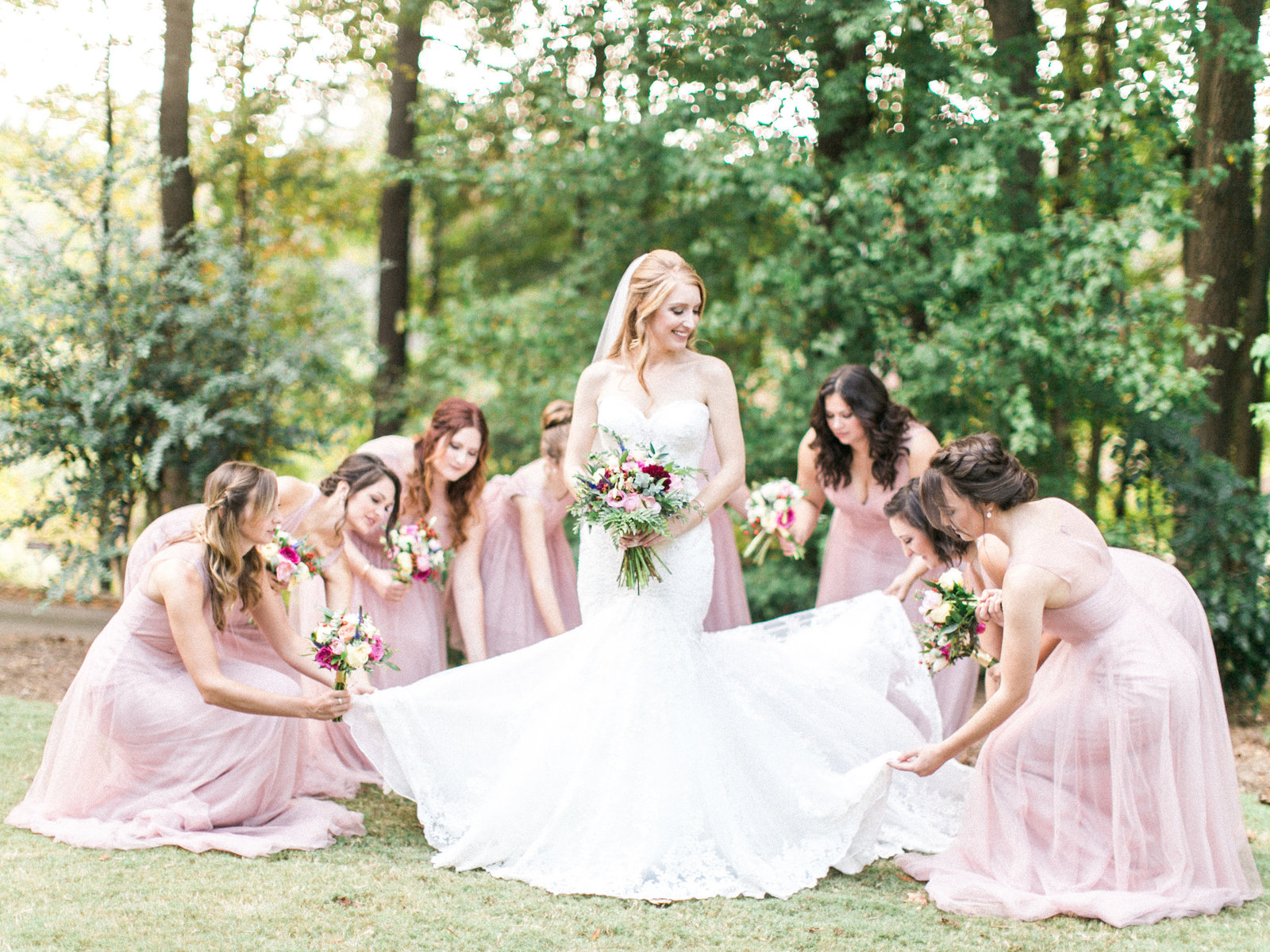 Christa O'Brien Photography Georgia Wedding photographer fine art film  wedding party spring