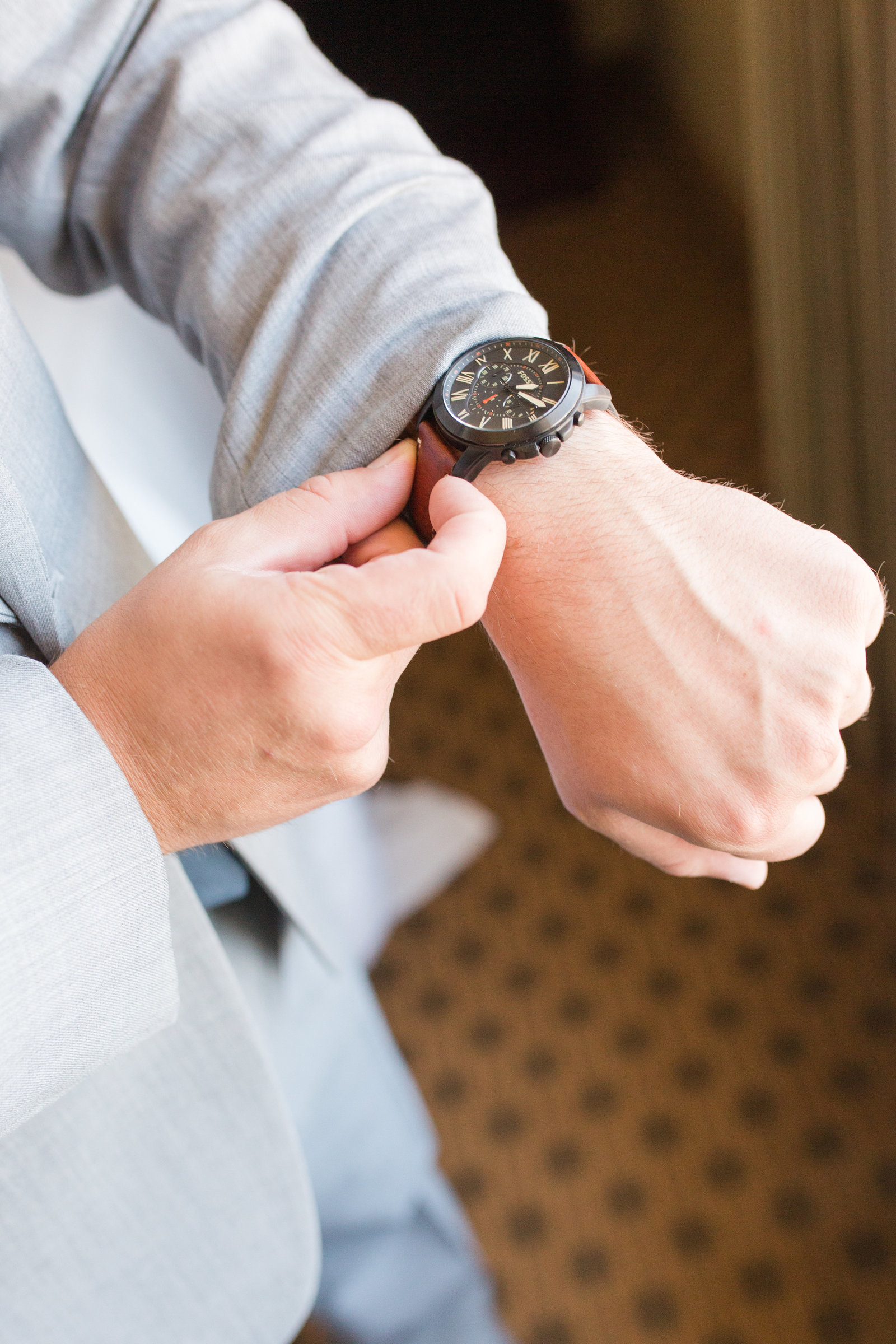 Groom watch detail portraits | Megan Snitker Photography | Iowa City Wedding Photographers