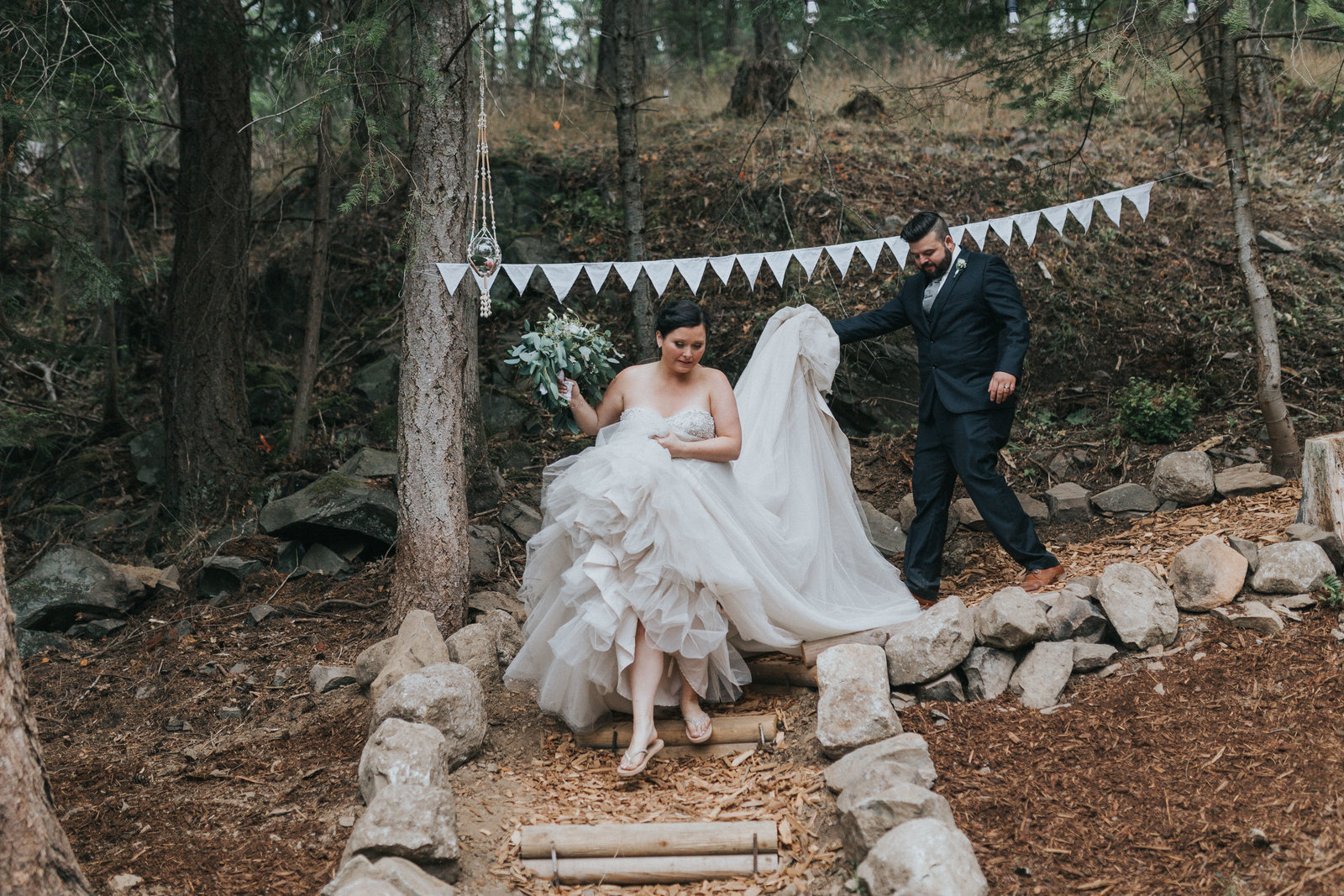 Pender Island wedding decor