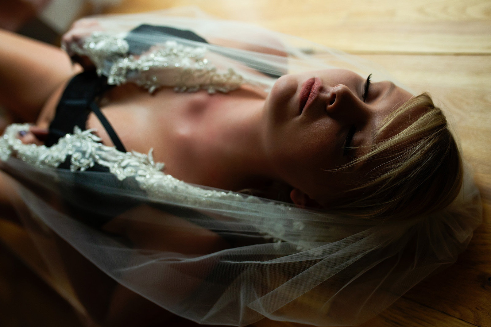 Bridal boudoir session in St. Louis