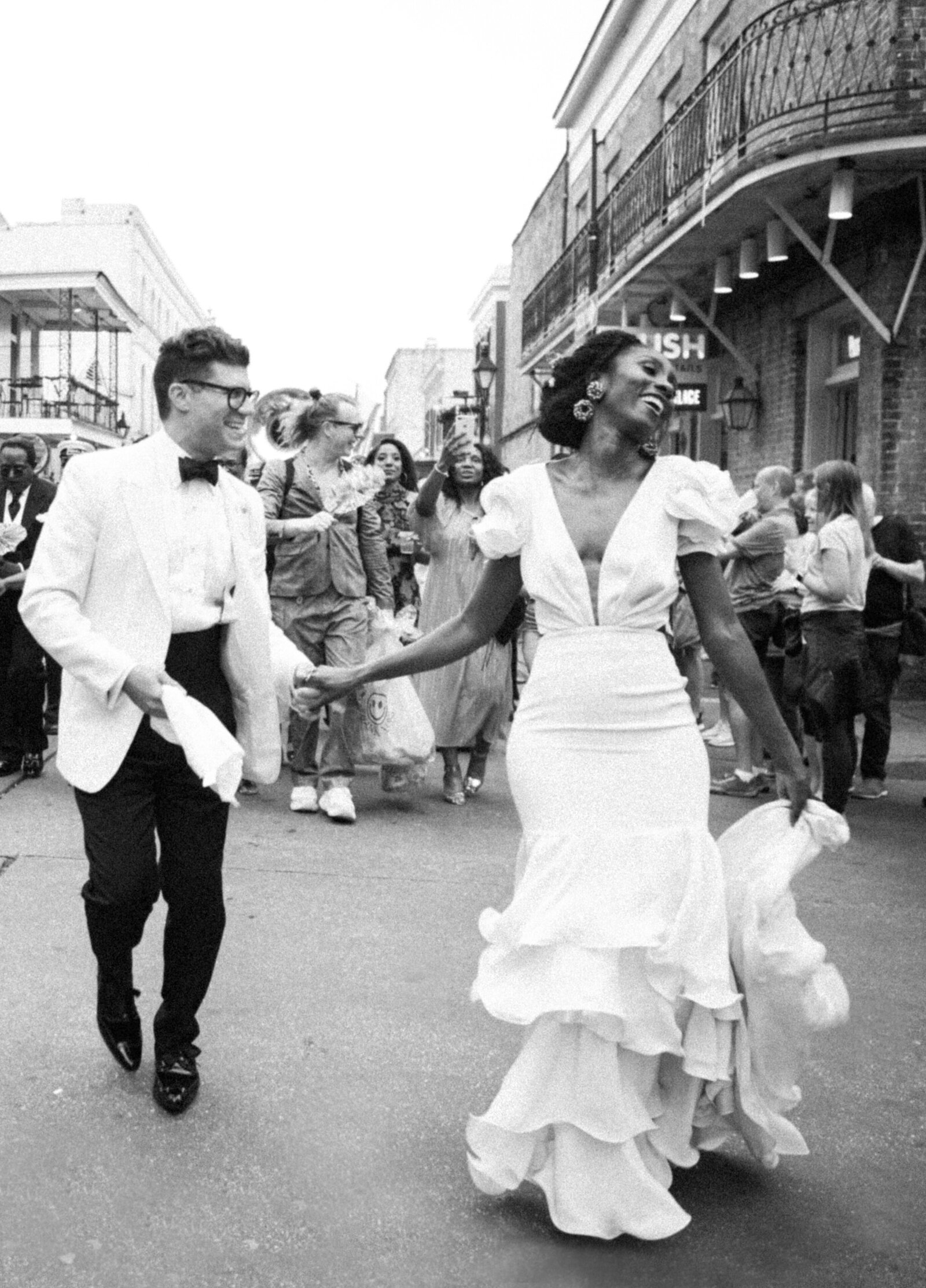 New Orleans second line wedding dress