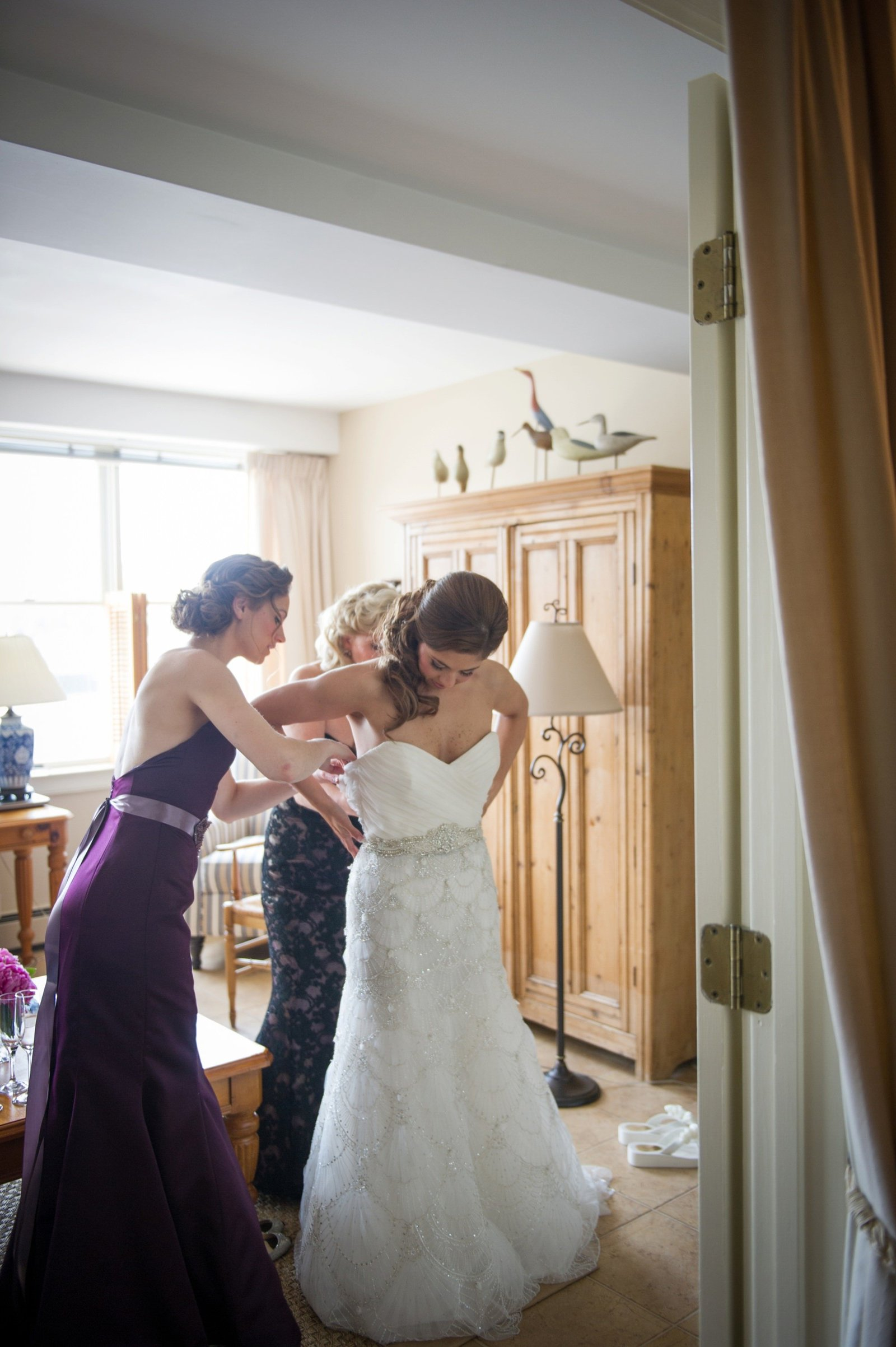 Bride getting ready details at The Branford House in Groton, CT