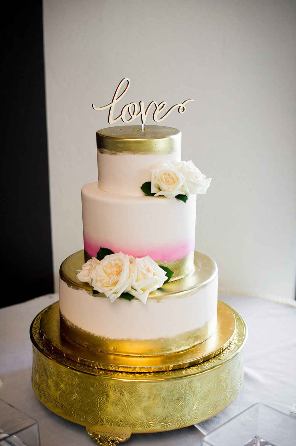 beautiful cake with gold